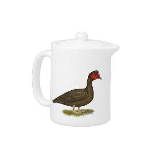 Muscovy Drake Chocolate Teapot
