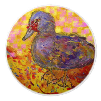 muscovy duck ceramic knob