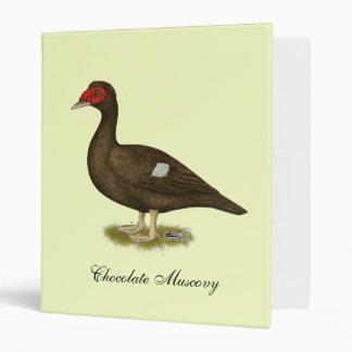 Muscovy Duck Chocolate 3 Ring Binder