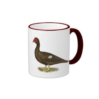 Muscovy Duck Chocolate Ringer Coffee Mug