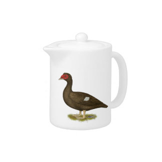 Muscovy Duck Chocolate Teapot