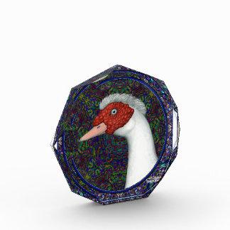 Muscovy Duck Head White Acrylic Award