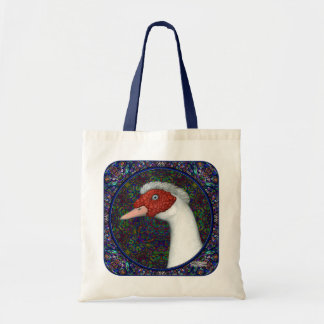 Muscovy Duck Head White Tote Bag