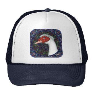 Muscovy Duck Head White Trucker Hat