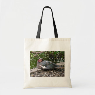 Muscovy duck tote bag