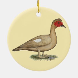 Muscovy Light Chocolate Drake Ceramic Ornament