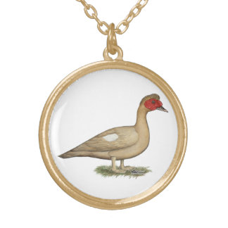 Muscovy Light Chocolate Drake Gold Plated Necklace
