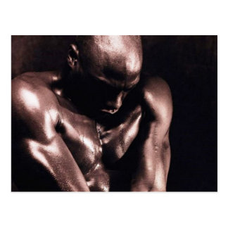 Muscular Black Man Postcard