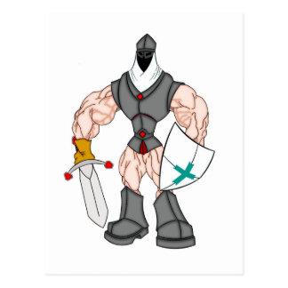muscular crusader postcard