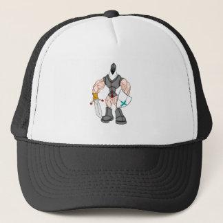muscular crusader trucker hat