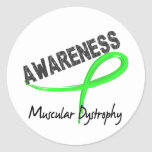 Muscular Dystrophy Awareness 3 Round Stickers