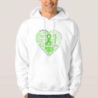 Muscular Dystrophy Awareness Heart Words Hoodie