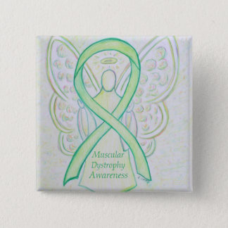 Muscular Dystrophy Awareness Lime Angel Ribbon Pin