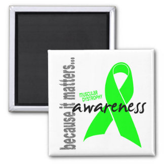 Muscular Dystrophy Awareness 2 Inch Square Magnet