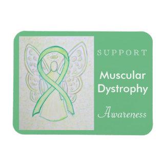 Muscular Dystrophy Awareness Ribbon Angel Magnet Rectangular Photo Magnet