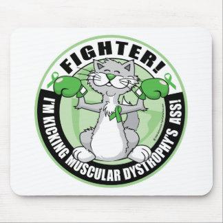 Muscular Dystrophy Boxing Cat Fighter Mouse Pad