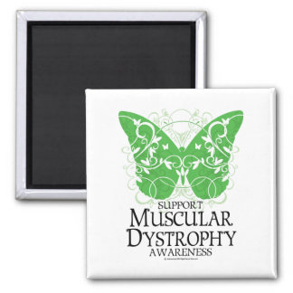 Muscular Dystrophy Butterfly 2 Inch Square Magnet