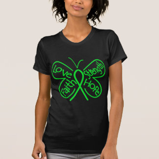 Muscular Dystrophy Butterfly Inspiring Words Tee Shirt
