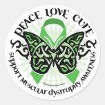 Muscular Dystrophy Butterfly Tribal 2 Stickers