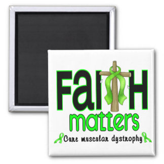 Muscular Dystrophy Faith Matters Cross 1 2 Inch Square Magnet