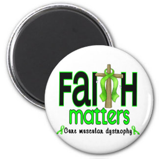 Muscular Dystrophy Faith Matters Cross 1 2 Inch Round Magnet