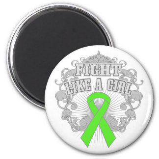Muscular Dystrophy Fight Like A Girl Fleurish 2 Inch Round Magnet