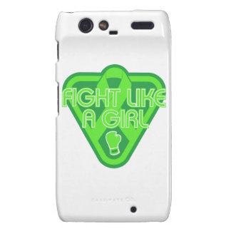 Muscular Dystrophy Fight Like A Girl Glove Motorola Droid RAZR Covers