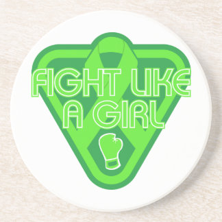 Muscular Dystrophy Fight Like A Girl Glove Coasters