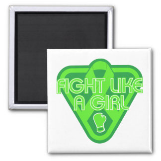 Muscular Dystrophy Fight Like A Girl Glove 2 Inch Square Magnet