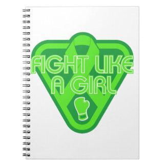 Muscular Dystrophy Fight Like A Girl Glove Spiral Notebook