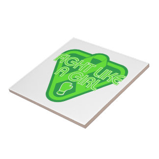 Muscular Dystrophy Fight Like A Girl Glove Tile
