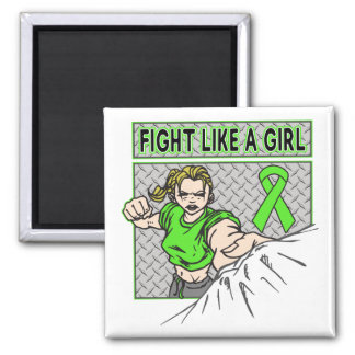 Muscular Dystrophy Fight Like A Girl Punch 2 Inch Square Magnet