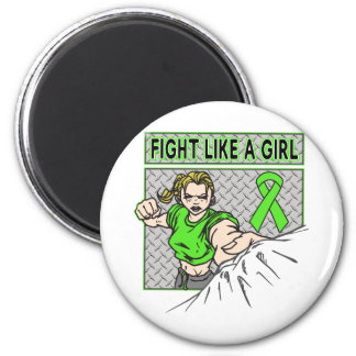 Muscular Dystrophy Fight Like A Girl Punch 2 Inch Round Magnet