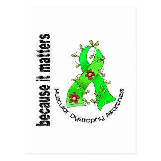 Muscular Dystrophy Flower Ribbon 3 Postcard