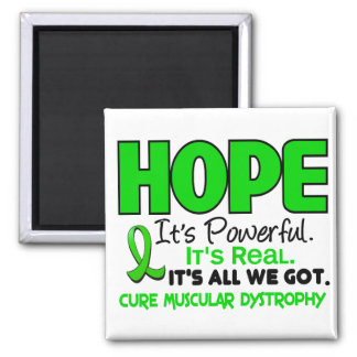Muscular Dystrophy HOPE 1 2 Inch Square Magnet