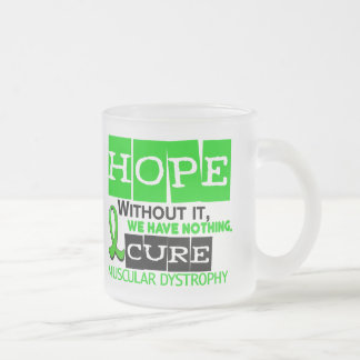 Muscular Dystrophy HOPE 2 Frosted Glass Coffee Mug