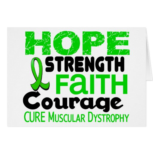 Muscular Dystrophy HOPE 3 Greeting Card