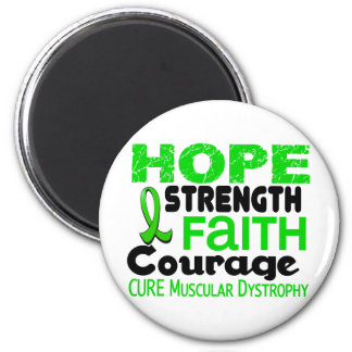 Muscular Dystrophy HOPE 3 2 Inch Round Magnet