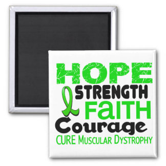 Muscular Dystrophy HOPE 3 2 Inch Square Magnet