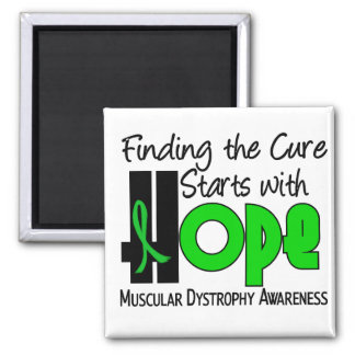Muscular Dystrophy HOPE 4 2 Inch Square Magnet