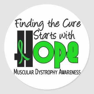 Muscular Dystrophy HOPE 4 Classic Round Sticker