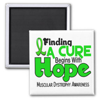 Muscular Dystrophy HOPE 5 2 Inch Square Magnet