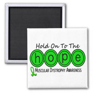 Muscular Dystrophy HOPE 6 2 Inch Square Magnet