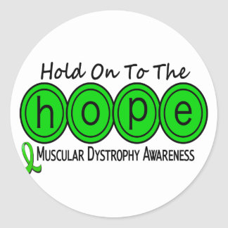 Muscular Dystrophy HOPE 6 Classic Round Sticker