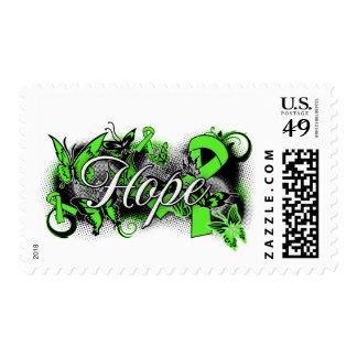 Muscular Dystrophy Hope Garden Ribbon Postage Stamp