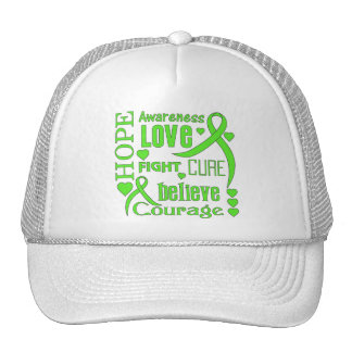 Muscular Dystrophy Hope Words Collage Trucker Hat