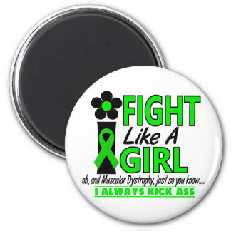 Muscular Dystrophy I Fight Like A Girl 1.2 2 Inch Round Magnet
