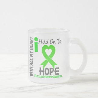 Muscular Dystrophy I Hold On To Hope Frosted Glass Coffee Mug