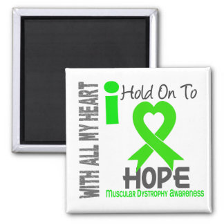 Muscular Dystrophy I Hold On To Hope 2 Inch Square Magnet