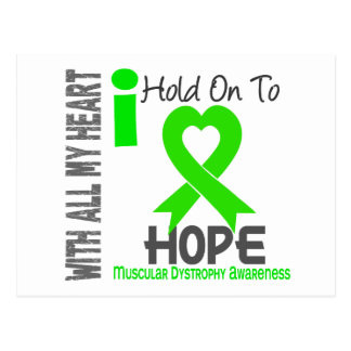Muscular Dystrophy I Hold On To Hope Postcard